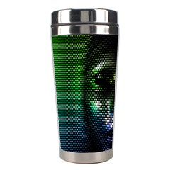 Digital Art Psychedelic Face Skull Color Stainless Steel Travel Tumblers by BangZart