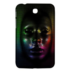 Digital Art Psychedelic Face Skull Color Samsung Galaxy Tab 3 (7 ) P3200 Hardshell Case  by BangZart