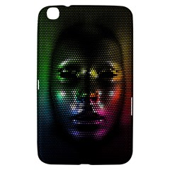 Digital Art Psychedelic Face Skull Color Samsung Galaxy Tab 3 (8 ) T3100 Hardshell Case  by BangZart