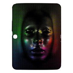Digital Art Psychedelic Face Skull Color Samsung Galaxy Tab 3 (10 1 ) P5200 Hardshell Case  by BangZart