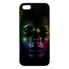 Digital Art Psychedelic Face Skull Color Iphone 5s/ Se Premium Hardshell Case by BangZart