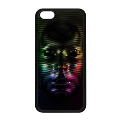 Digital Art Psychedelic Face Skull Color Apple Iphone 5c Seamless Case (black) by BangZart