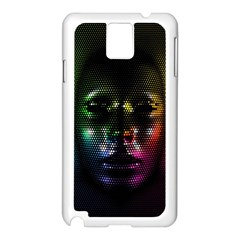 Digital Art Psychedelic Face Skull Color Samsung Galaxy Note 3 N9005 Case (white)