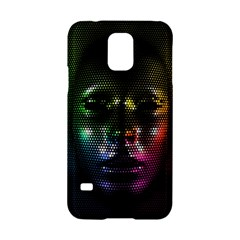 Digital Art Psychedelic Face Skull Color Samsung Galaxy S5 Hardshell Case  by BangZart