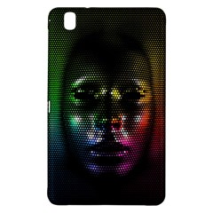 Digital Art Psychedelic Face Skull Color Samsung Galaxy Tab Pro 8 4 Hardshell Case by BangZart
