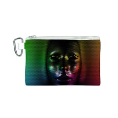 Digital Art Psychedelic Face Skull Color Canvas Cosmetic Bag (s) by BangZart