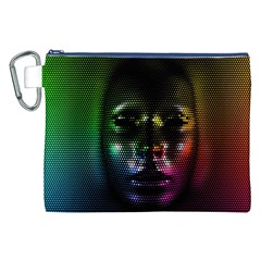 Digital Art Psychedelic Face Skull Color Canvas Cosmetic Bag (xxl) by BangZart