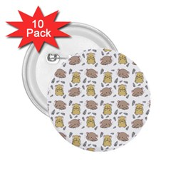Cute Hamster Pattern 2 25  Buttons (10 Pack)