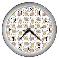 Cute Hamster Pattern Wall Clocks (silver)  by BangZart