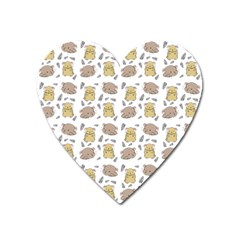 Cute Hamster Pattern Heart Magnet by BangZart