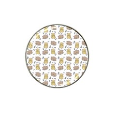Cute Hamster Pattern Hat Clip Ball Marker (4 Pack)