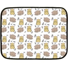Cute Hamster Pattern Double Sided Fleece Blanket (mini)