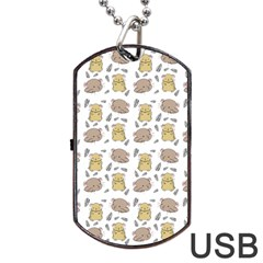 Cute Hamster Pattern Dog Tag Usb Flash (one Side) by BangZart