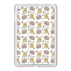 Cute Hamster Pattern Apple Ipad Mini Case (white) by BangZart