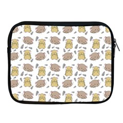 Cute Hamster Pattern Apple Ipad 2/3/4 Zipper Cases by BangZart