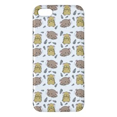 Cute Hamster Pattern Iphone 5s/ Se Premium Hardshell Case by BangZart