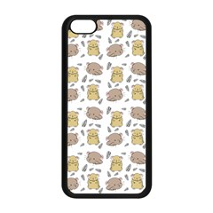 Cute Hamster Pattern Apple Iphone 5c Seamless Case (black) by BangZart