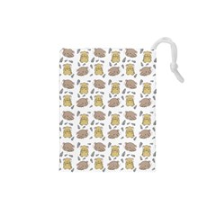 Cute Hamster Pattern Drawstring Pouches (small)  by BangZart