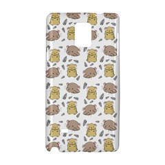 Cute Hamster Pattern Samsung Galaxy Note 4 Hardshell Case by BangZart