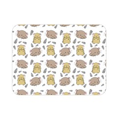 Cute Hamster Pattern Double Sided Flano Blanket (mini)  by BangZart