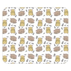 Cute Hamster Pattern Double Sided Flano Blanket (small)  by BangZart