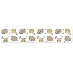 Cute Hamster Pattern Flano Scarf (large)