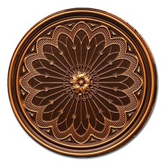 Decorative Antique Gold Magnet 5  (round) by BangZart
