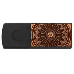 Decorative Antique Gold Rectangular Usb Flash Drive