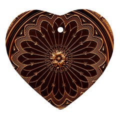 Decorative Antique Gold Heart Ornament (two Sides) by BangZart