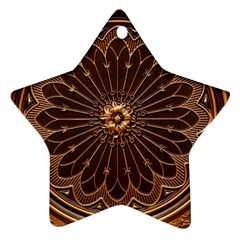 Decorative Antique Gold Star Ornament (two Sides) by BangZart