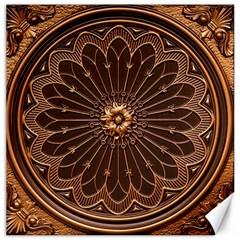Decorative Antique Gold Canvas 12  X 12   by BangZart