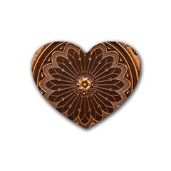 Decorative Antique Gold Rubber Coaster (heart)  by BangZart
