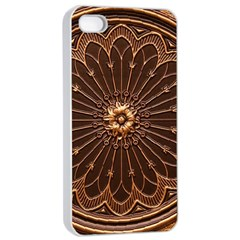 Decorative Antique Gold Apple Iphone 4/4s Seamless Case (white)
