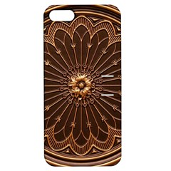 Decorative Antique Gold Apple Iphone 5 Hardshell Case With Stand