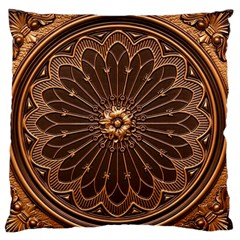 Decorative Antique Gold Standard Flano Cushion Case (one Side)