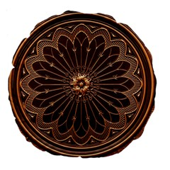 Decorative Antique Gold Large 18  Premium Flano Round Cushions by BangZart
