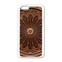 Decorative Antique Gold Apple Iphone 6/6s White Enamel Case by BangZart