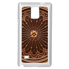 Decorative Antique Gold Samsung Galaxy Note 4 Case (white)