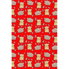 Cute Hamster Pattern Red Background 5 5  X 8 5  Notebooks