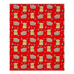 Cute Hamster Pattern Red Background Shower Curtain 60  X 72  (medium)