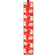 Cute Hamster Pattern Red Background Large Book Marks by BangZart