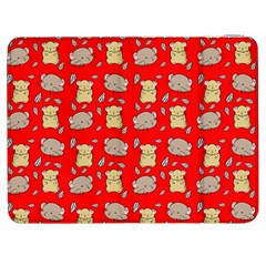 Cute Hamster Pattern Red Background Samsung Galaxy Tab 7  P1000 Flip Case