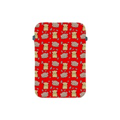 Cute Hamster Pattern Red Background Apple Ipad Mini Protective Soft Cases by BangZart