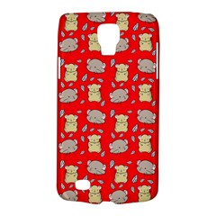 Cute Hamster Pattern Red Background Galaxy S4 Active