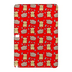 Cute Hamster Pattern Red Background Samsung Galaxy Tab Pro 12 2 Hardshell Case by BangZart