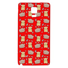 Cute Hamster Pattern Red Background Galaxy Note 4 Back Case