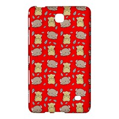 Cute Hamster Pattern Red Background Samsung Galaxy Tab 4 (7 ) Hardshell Case