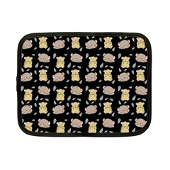 Cute Hamster Pattern Black Background Netbook Case (small)  by BangZart