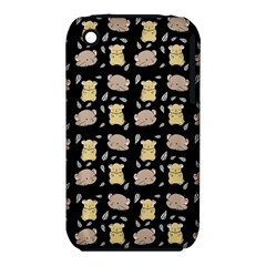 Cute Hamster Pattern Black Background Iphone 3s/3gs