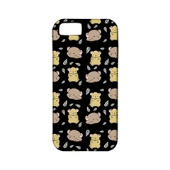 Cute Hamster Pattern Black Background Apple Iphone 5 Classic Hardshell Case (pc+silicone) by BangZart